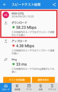 横浜駅の東横線構内でUQmobileの速度