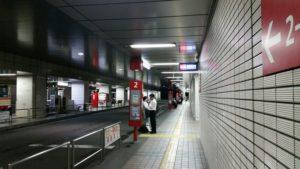 横浜駅東口のバスターミナル