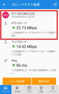 横浜ゴンチャ前でのDMMモバイル速度